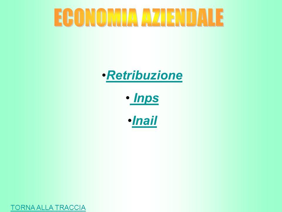RetribuzioneRetribuzioneRetribuzione Inps Inps Inps Inps InailInailInail TORNA ALLA TRACCIA