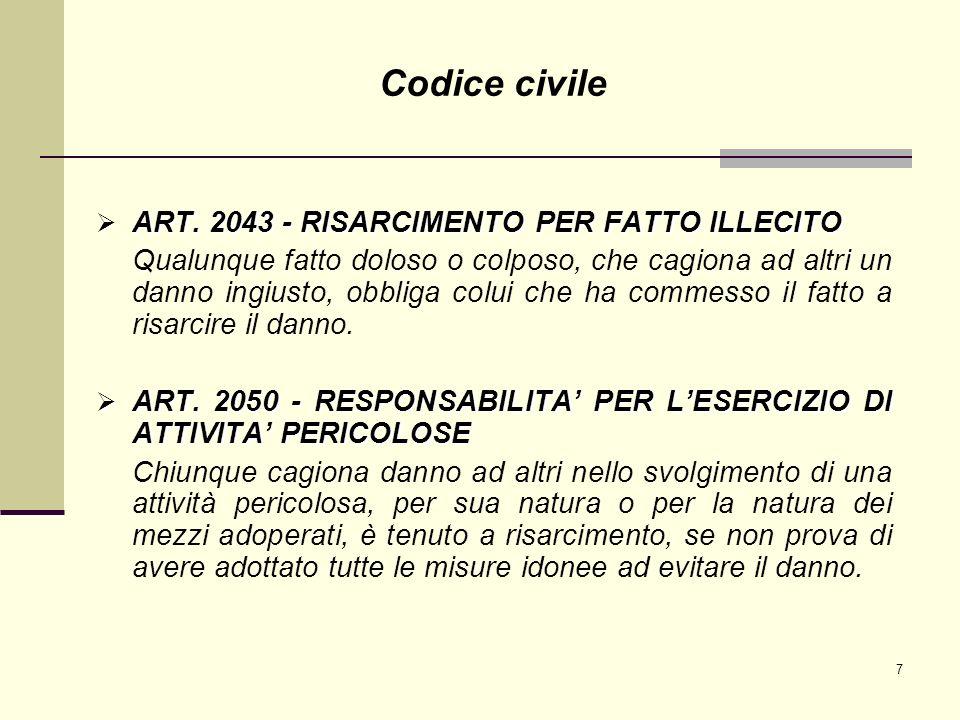 8 ART.2087 - TUTELA DELLE CONDIZIONI DI LAVORO ART.