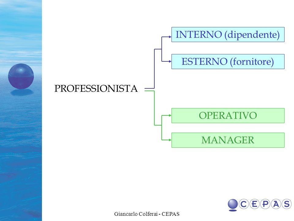 Giancarlo Colferai - CEPAS Passare dall ATTUALE sistema di Certificazione che distingue: Professionisti Certificati Professionisti Non Certificati NUOVO APPROCCIO basato su una CLASSIFICAZIONE delle Certificazioni per: Livelli di Responsabilità Gradi di Competenza
