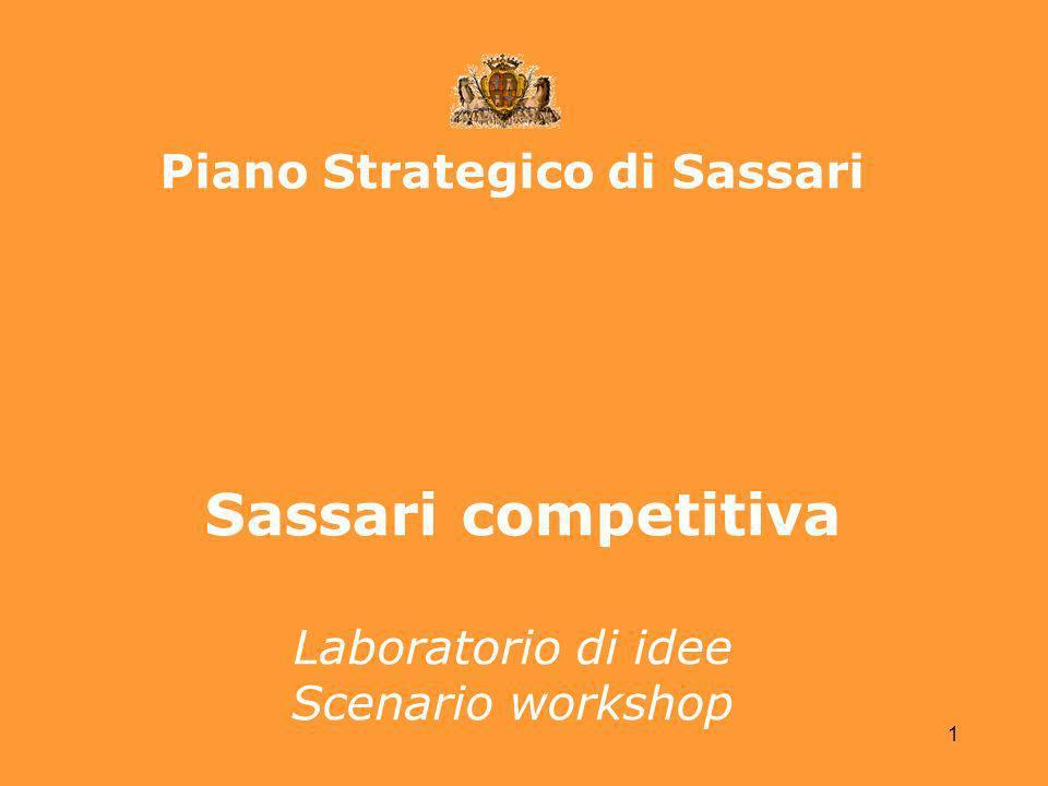 1 Piano Strategico di Sassari Sassari competitiva Laboratorio di idee Scenario workshop