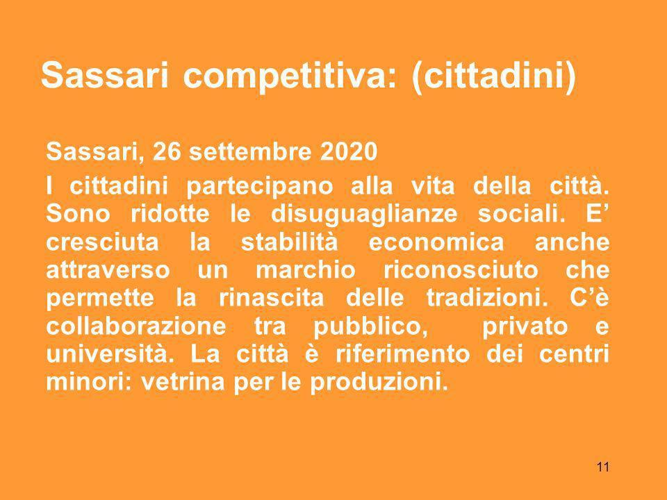 11 Sassari, 26 settembre 2020 I cittadini partecipano alla vita della città.