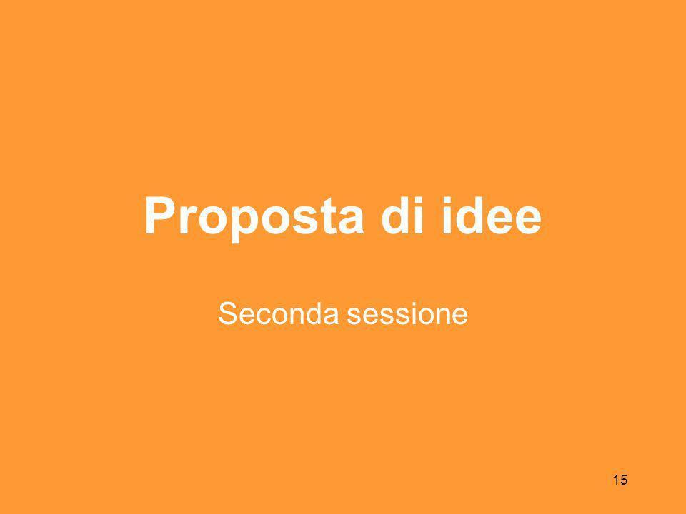 15 Proposta di idee Seconda sessione