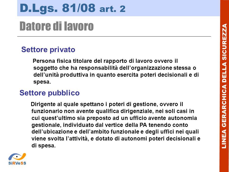 LINEA COLLABORATIVA DELLA SICUREZZA D.Lgs.81/08 art.