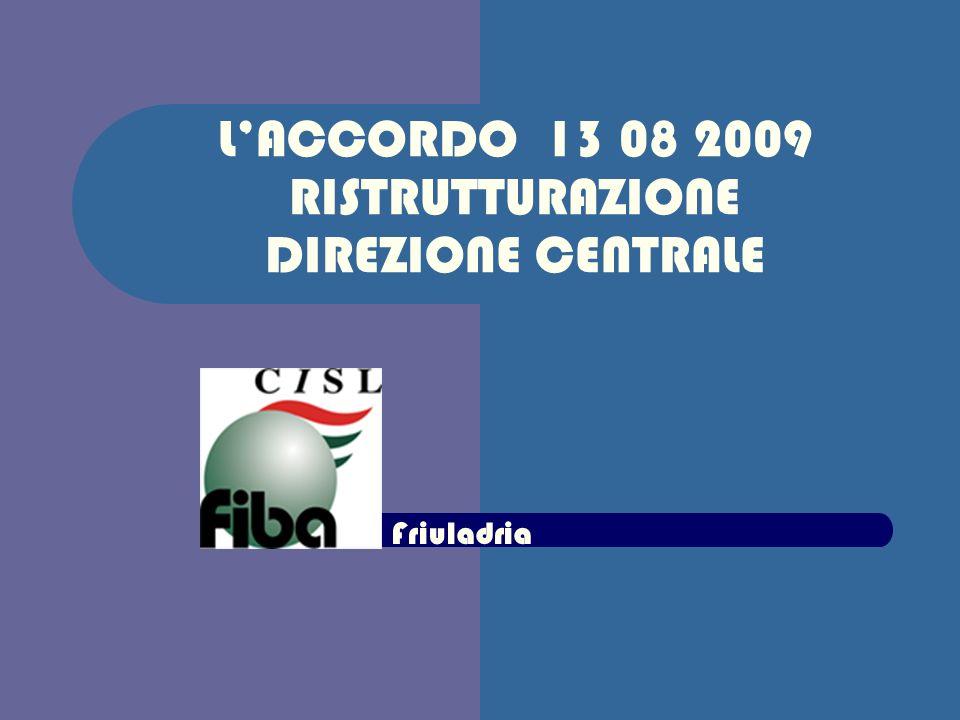 LACCORDO 13 08 2009 RISTRUTTURAZIONE DIREZIONE CENTRALE Friuladria