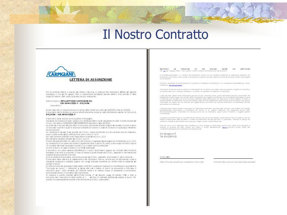 CONTRATTI DI ASSUNZIONE Fin dal momento dallassunzione il datore è tenuto a consegnare al nuovo dipendente una dichiarazione sottoscritta con le mansi