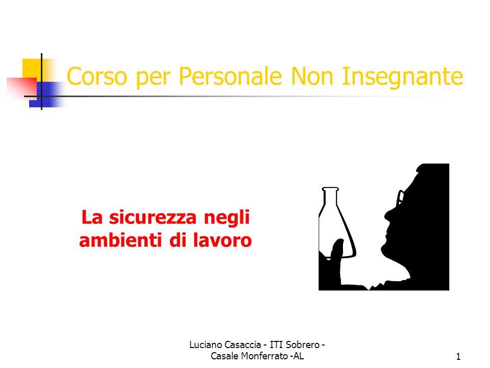 Luciano Casaccia - ITI Sobrero - Casale Monferrato -AL1 Corso per Personale Non Insegnante La sicurezza negli ambienti di lavoro