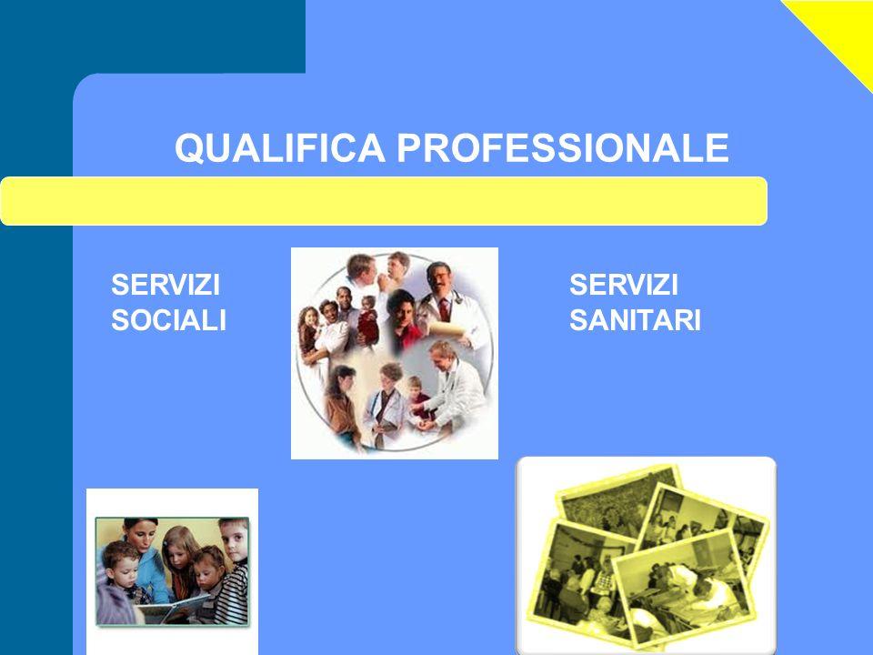 QUALIFICA PROFESSIONALE SERVIZI SOCIALI SERVIZI SANITARI