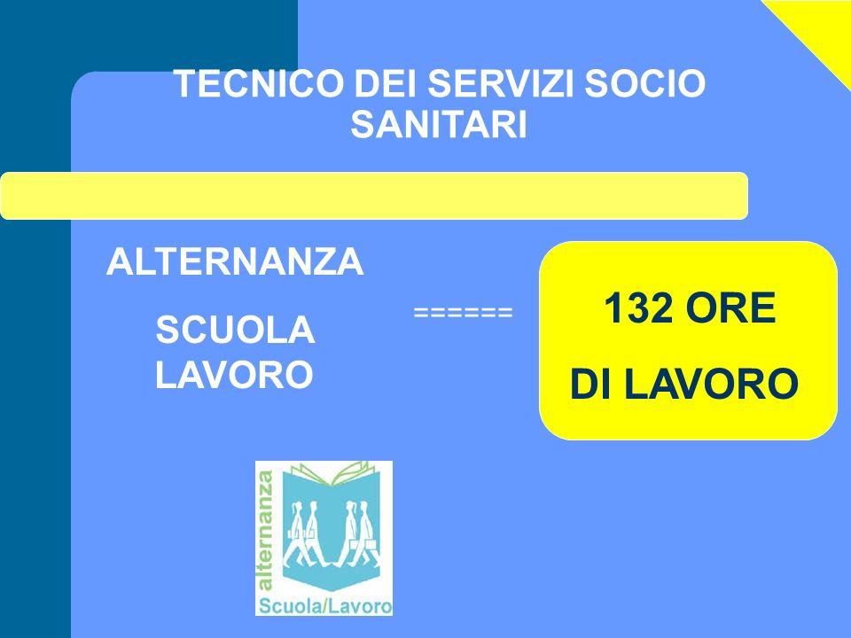 TECNICO DEI SERVIZI SOCIO SANITARI ALTERNANZA SCUOLA LAVORO ====== 132 ORE DI LAVORO