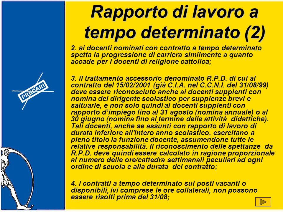 Rapporto di lavoro a tempo determinato (2) 2.