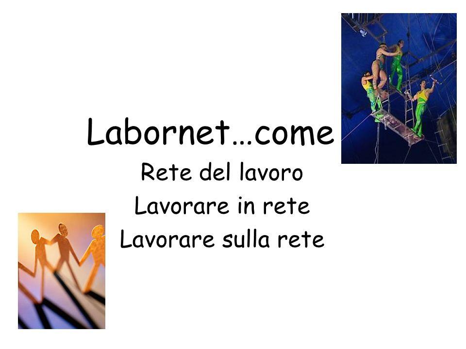 Labornet…come Rete del lavoro Lavorare in rete Lavorare sulla rete