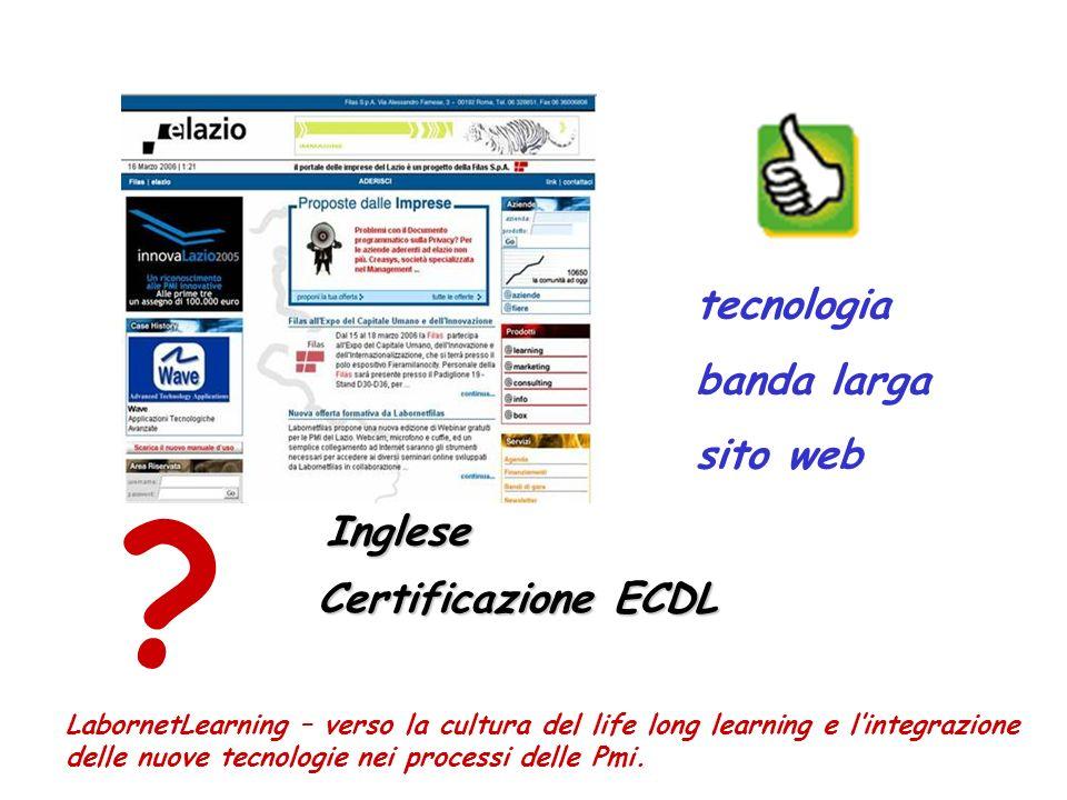 tecnologia banda larga sito web LabornetLearning – verso la cultura del life long learning e lintegrazione delle nuove tecnologie nei processi delle Pmi.