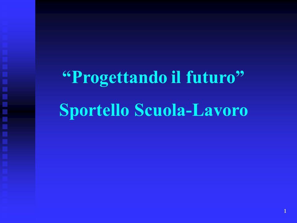 1 Progettando il futuro Sportello Scuola-Lavoro
