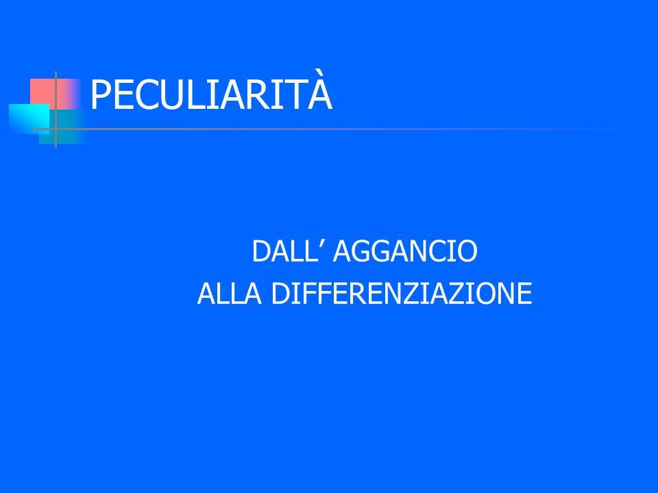 PECULIARITÀ DALL AGGANCIO ALLA DIFFERENZIAZIONE