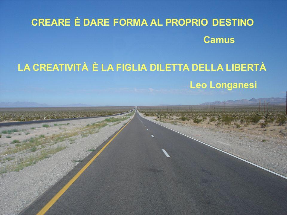 22 CREARE È DARE FORMA AL PROPRIO DESTINO Camus LA CREATIVITÀ È LA FIGLIA DILETTA DELLA LIBERTÀ Leo Longanesi