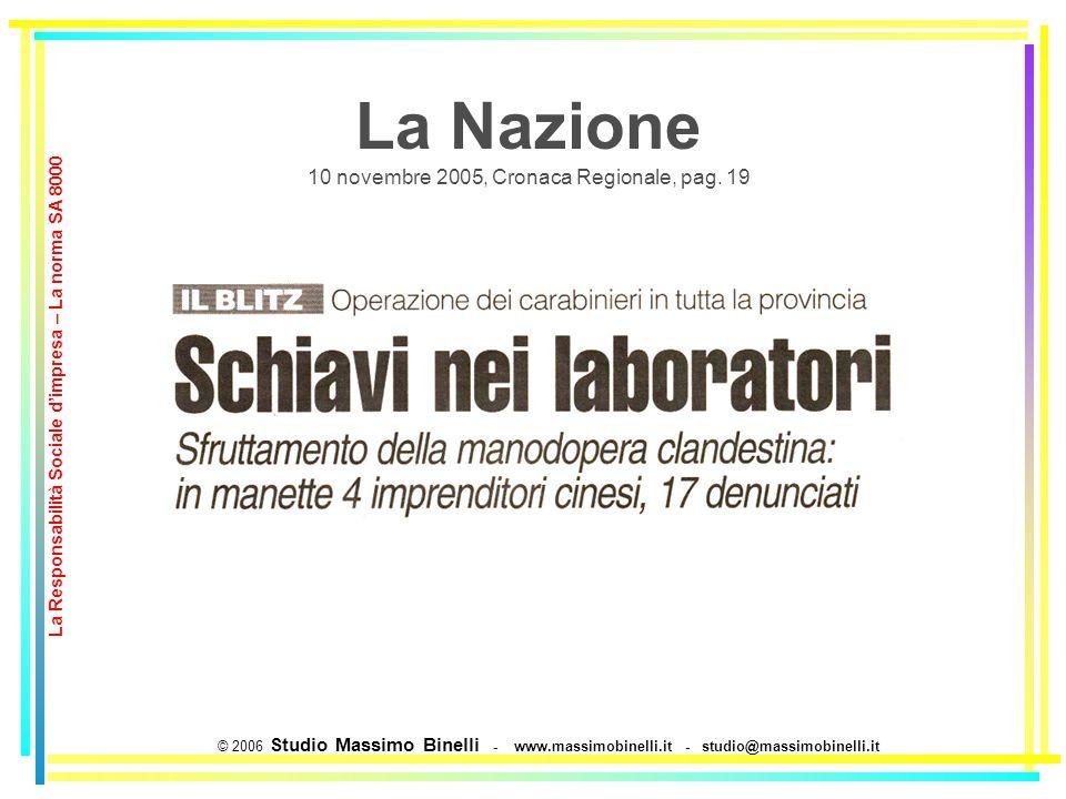 La Nazione 10 novembre 2005, Cronaca Regionale, pag.