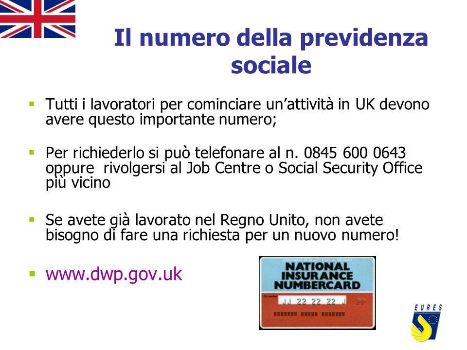 Il numero della previdenza sociale Tutti i lavoratori per cominciare unattività in UK devono avere questo importante numero; Per richiederlo si può te