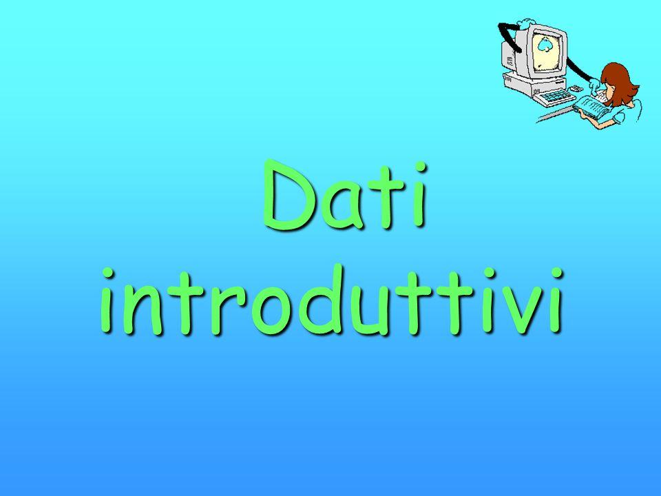 Dati introduttivi Dati introduttivi
