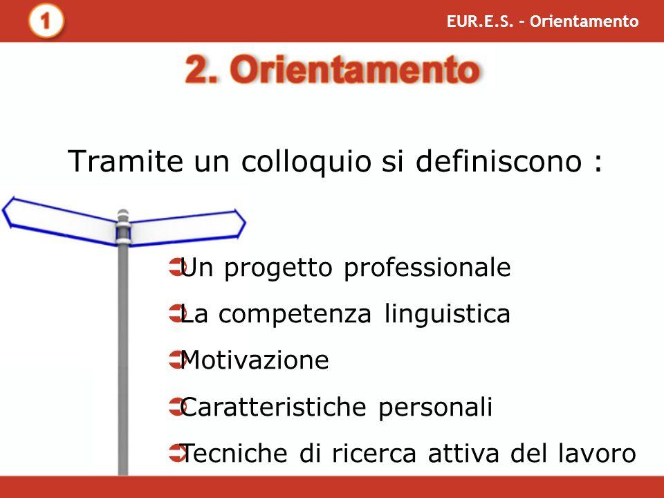 Sulla base del progetto e delle competenze: EUR.E.S.