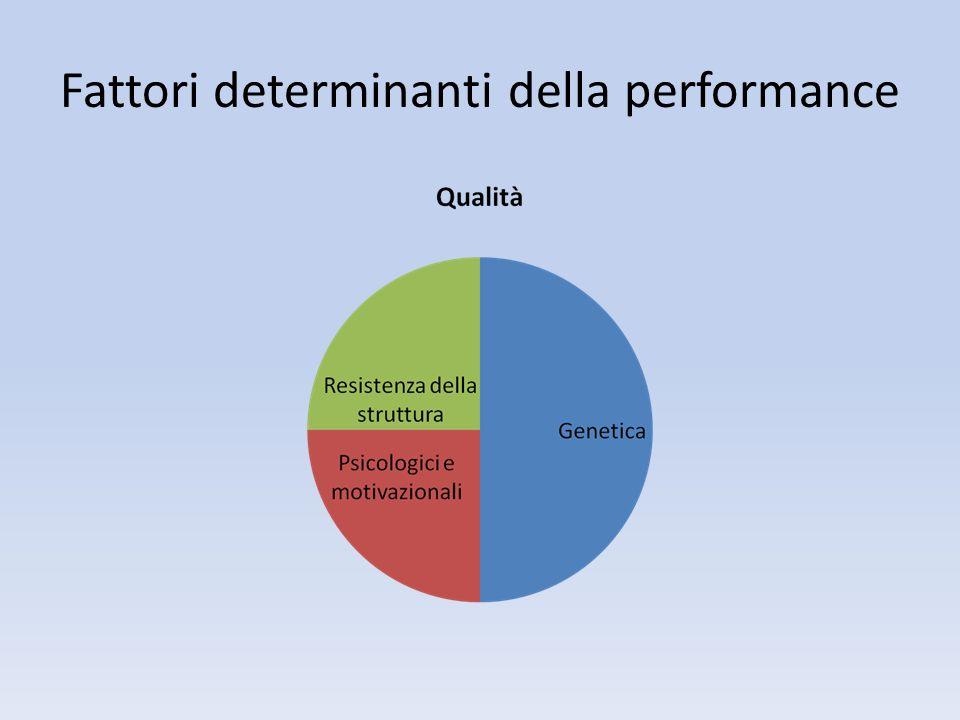 Fattori determinanti della performance
