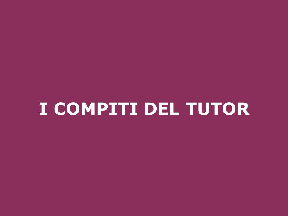 I COMPITI DEL TUTOR