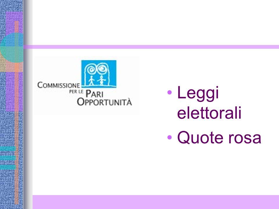 Leggi elettorali Quote rosa