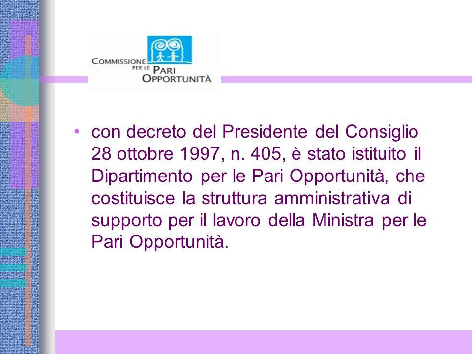 con decreto del Presidente del Consiglio 28 ottobre 1997, n.