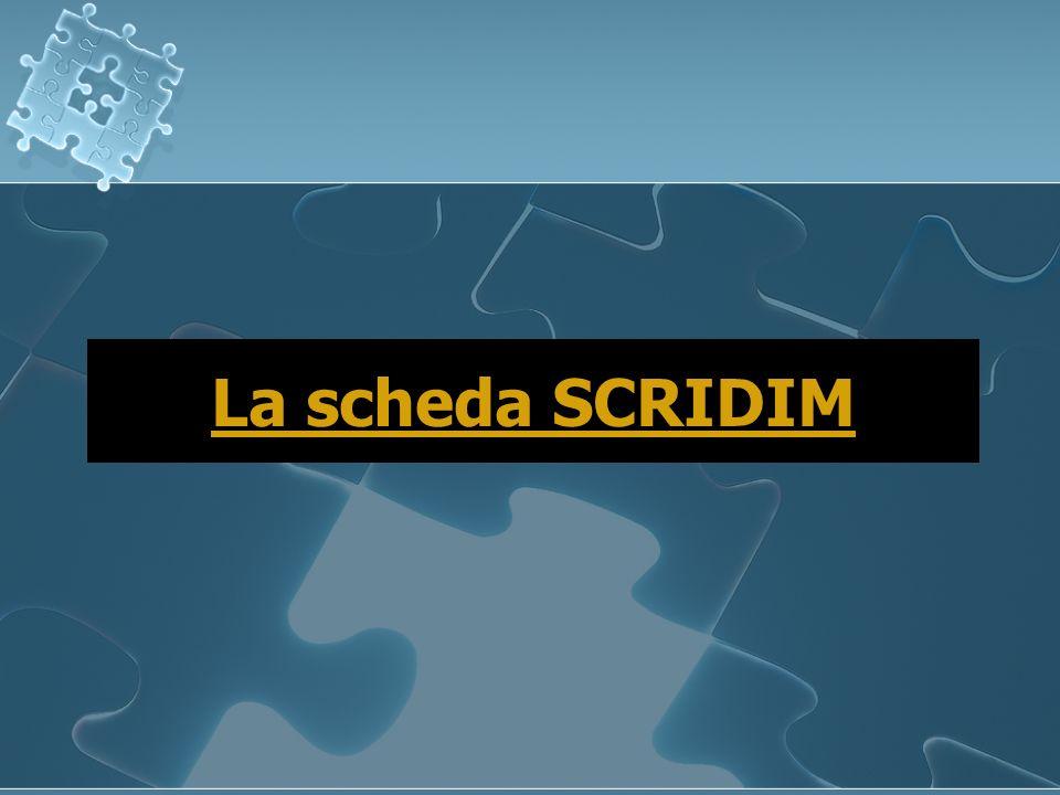 Scheda SCRIDIM Scheda SCRIDIM Lutente, con la sua idea imprenditoriale, sarà guidato in un percorso di raccolta di informazioni indispensabili per la successiva canalizzazione dellintervento