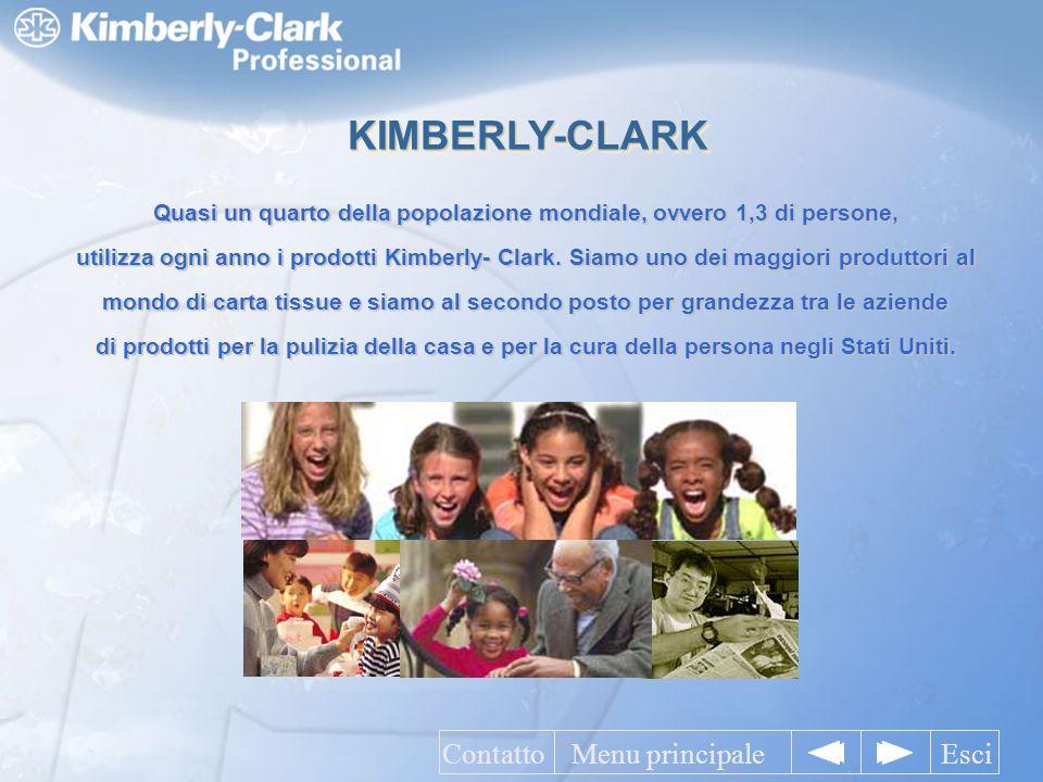Quasi un quarto della popolazione mondiale, ovvero 1,3 di persone, utilizza ogni anno i prodotti Kimberly- Clark.