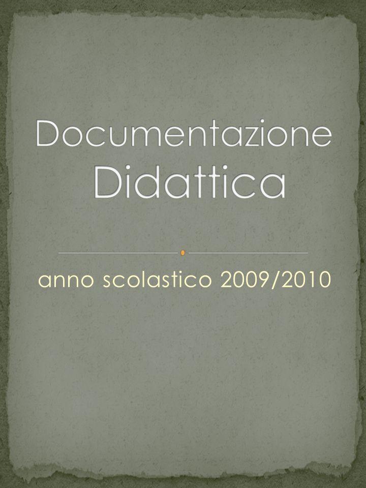 anno scolastico 2009/2010