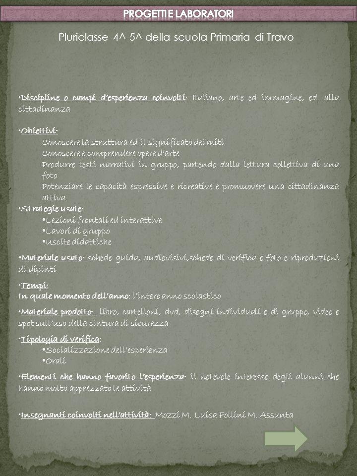 Discipline o campi desperienza coinvolti: Italiano, arte ed immagine, ed. alla cittadinanza Obiettivi: Conoscere la struttura ed il significato dei mi