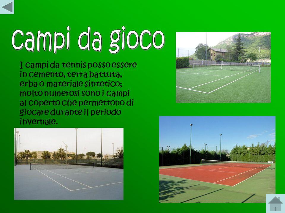 Il tennis è uno sport che vede opposti due giocatori, nel match di singolo, o quattro, nel match di doppio. I giocatori utilizzano una racchetta al fi