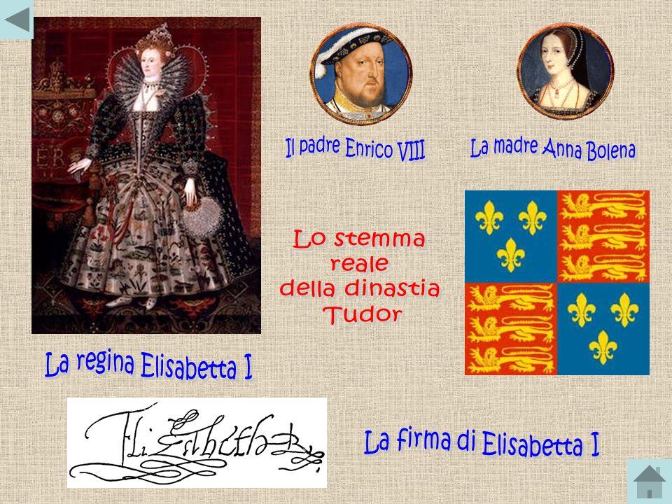 Elisabetta I era figlia di Enrico VIII e Anna Bolena. Ella salì al trono alletà di 25 anni, contestata dai cattolici perché figlia di genitori scomuni
