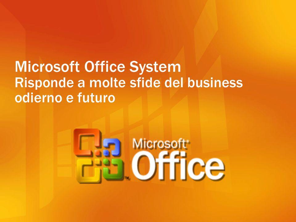 Office Online Services Microsoft Office System è uninfrastruttura composta dalle applicazioni Office, da soluzioni server e da servizi online per connettere persone e aziende integrando informazioni e processi.