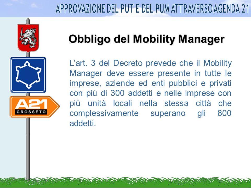 Obbligo del Mobility Manager Lart.