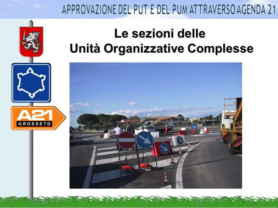 Le sezioni delle Unità Organizzative Complesse