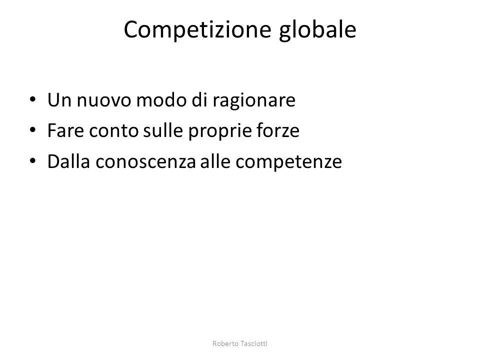 Competizione globale Un nuovo modo di ragionare Fare conto sulle proprie forze Dalla conoscenza alle competenze Roberto Tasciotti