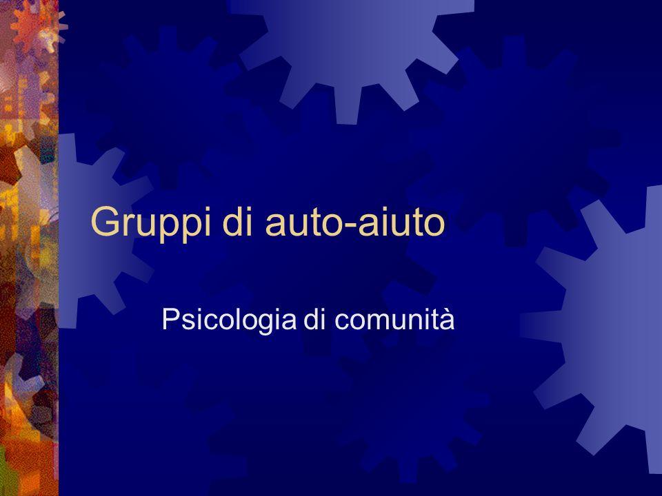 Gruppi di auto-aiuto Psicologia di comunità