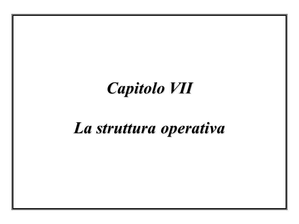 Capitolo VII La struttura operativa