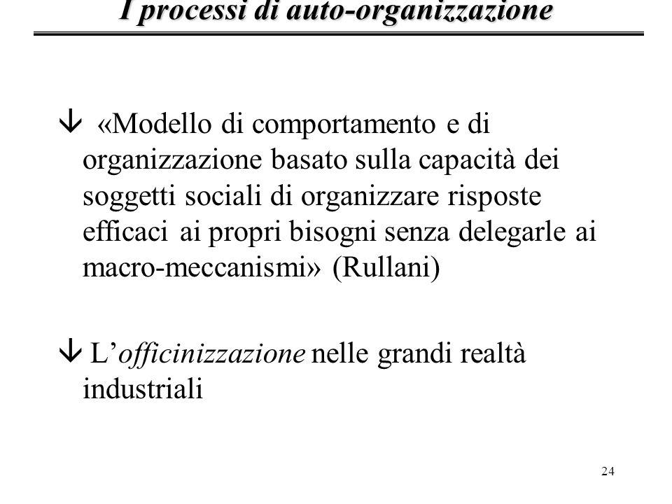24 â «Modello di comportamento e di organizzazione basato sulla capacità dei soggetti sociali di organizzare risposte efficaci ai propri bisogni senza