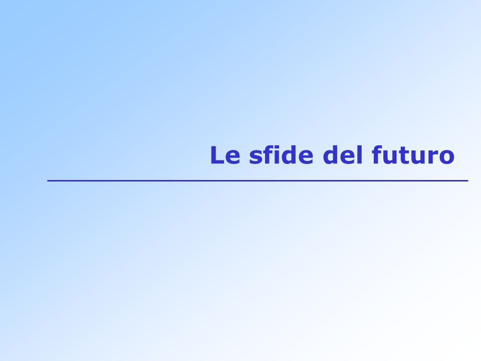 Le sfide del futuro