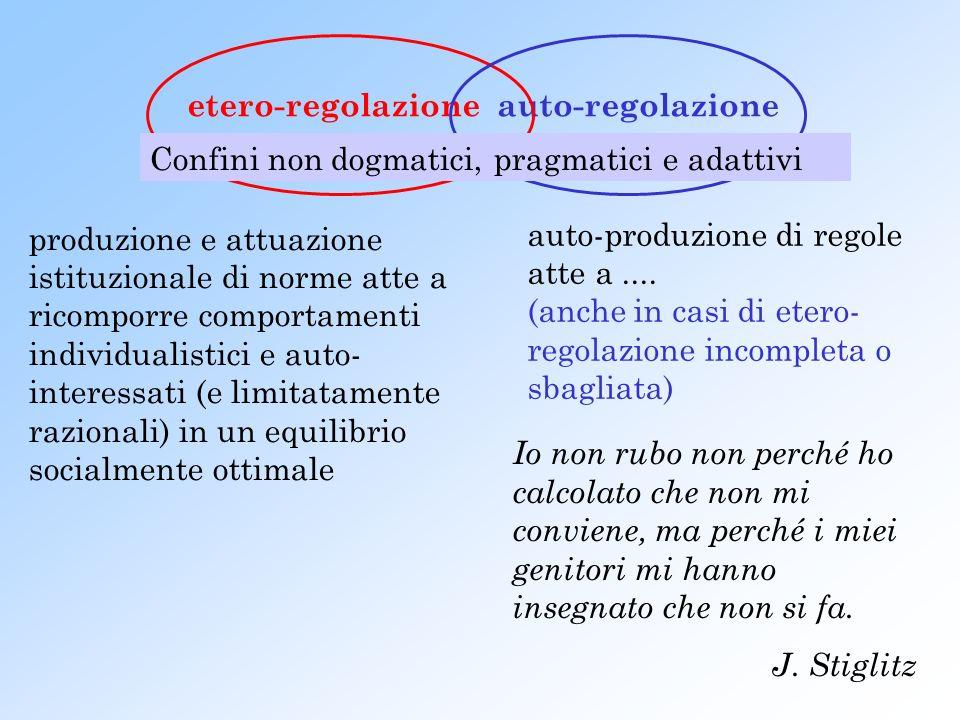 etero-regolazioneauto-regolazione auto-produzione di regole atte a....