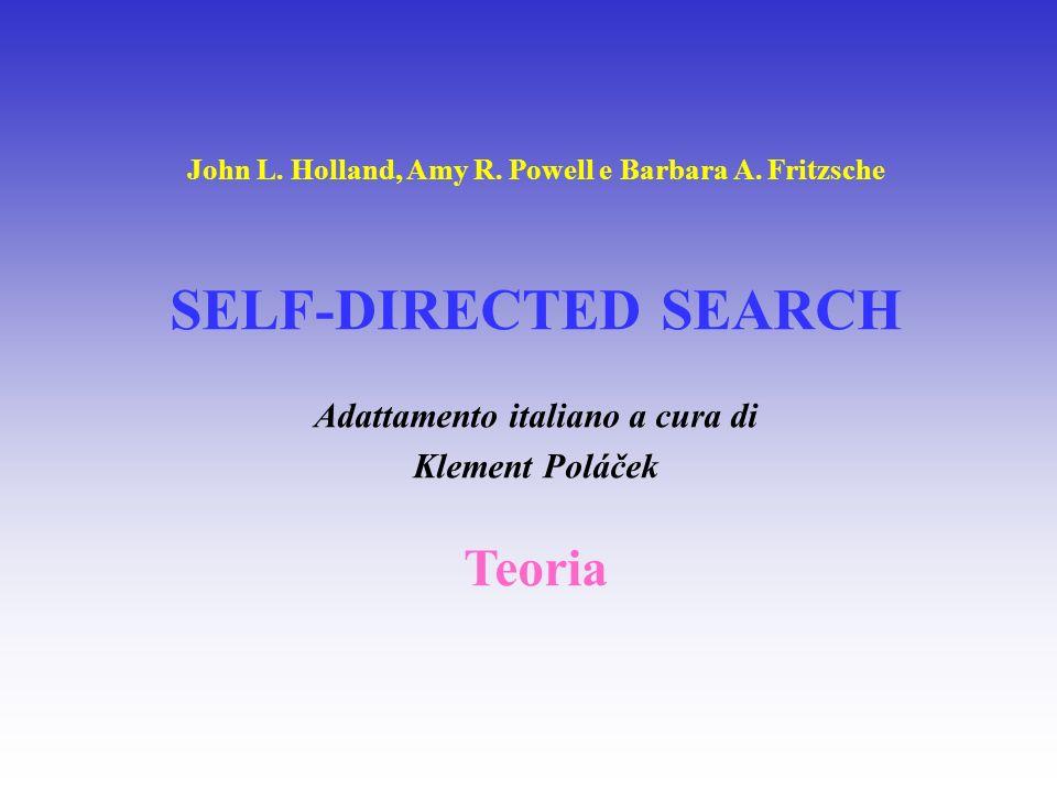 TEORIA DEI TIPI PROFESSIONALI DI JOHN L.