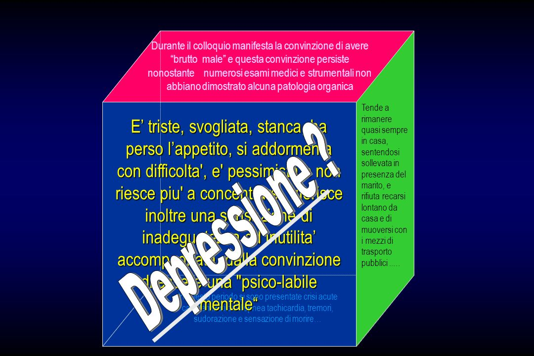 COMORBIDITA Validatori Esterni della Diagnosi Descrizione Clinica (es.