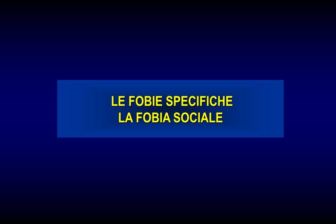 LE FOBIE SPECIFICHE LE FOBIE SPECIFICHE LA FOBIA SOCIALE