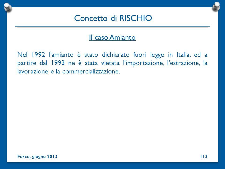 Nel 1992 l'amianto è stato dichiarato fuori legge in Italia, ed a partire dal 1993 ne è stata vietata l'importazione, l'estrazione, la lavorazione e l