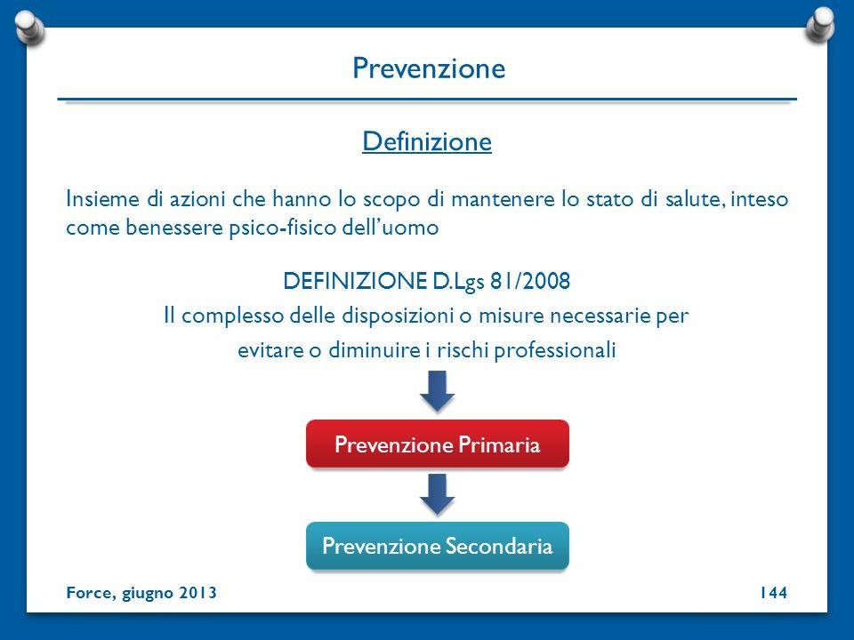Insieme di azioni che hanno lo scopo di mantenere lo stato di salute, inteso come benessere psico-fisico delluomo DEFINIZIONE D.Lgs 81/2008 Il comples