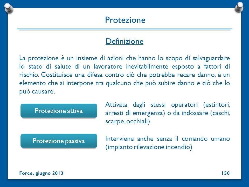 La protezione è un insieme di azioni che hanno lo scopo di salvaguardare lo stato di salute di un lavoratore inevitabilmente esposto a fattori di risc
