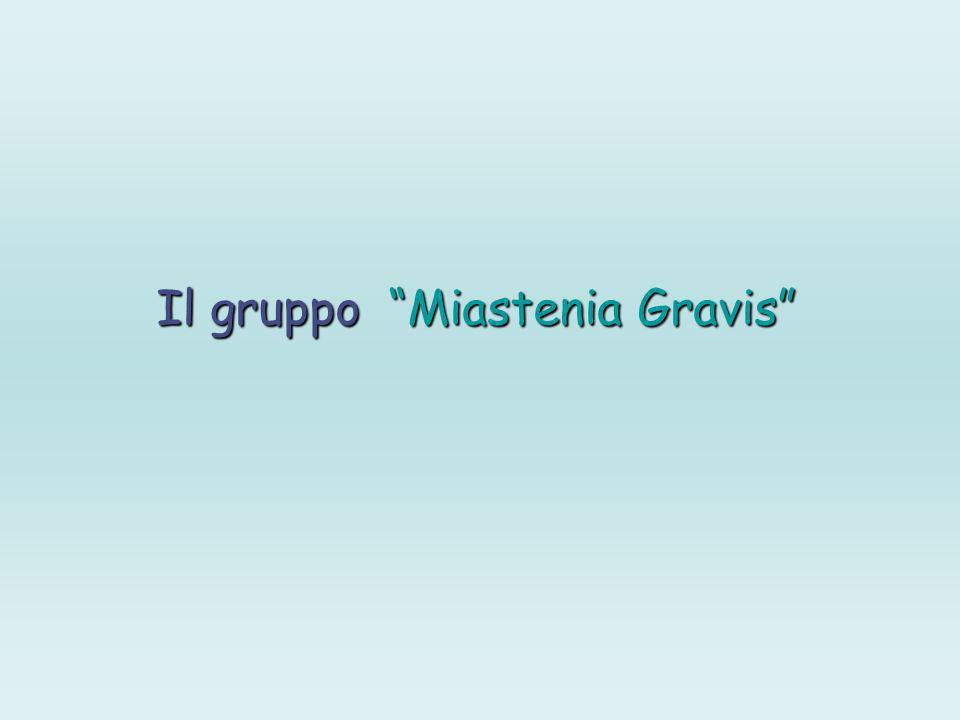 Il gruppo Miastenia Gravis