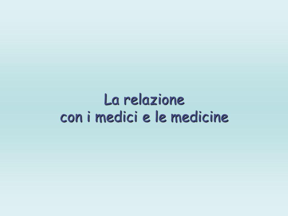La relazione con i medici e le medicine