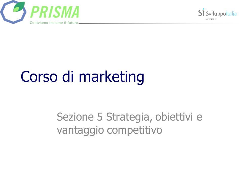 Corso di marketing Sezione 5 Strategia, obiettivi e vantaggio competitivo